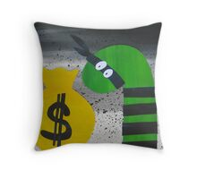 Snake on the Take- Rhyming animal prints for children Throw Pillow