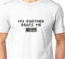 My Partner Beats Me (Dark Text) Unisex T-Shirt