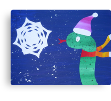 Snake with a Snow Flake Canvas Print