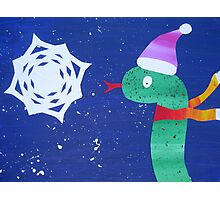 Snake with a Snow Flake Photographic Print