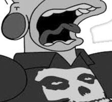 metal homer for black T Sticker