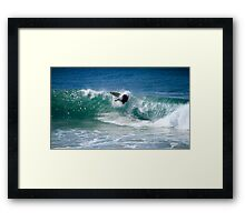 Surfing Burleigh Heads 04.06.2013 Framed Print