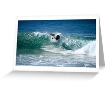 Surfing Burleigh Heads 04.06.2013 Greeting Card