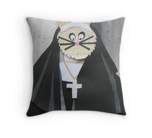 Rabbit in a habbit- from recycled Math Books- Children's rhymes Throw Pillow