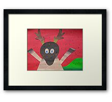 Deer in Good Cheer- Animals for Children- Rhymes Framed Print