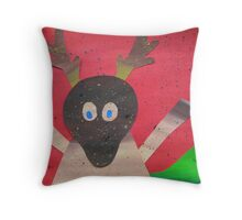 Deer in Good Cheer- Animals for Children- Rhymes Throw Pillow