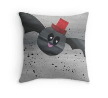 Bat in a hat Throw Pillow