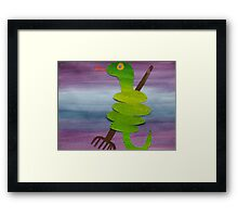 Snake with a Rake- animal rhymes from recycled math books Framed Print