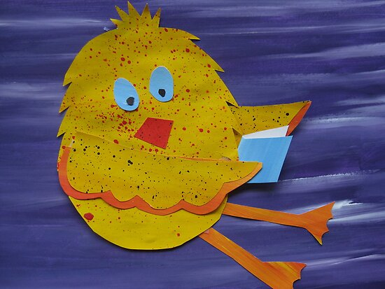 Chook with a Book - Animal Rhymes - created from recycled math books by cathyjacobs