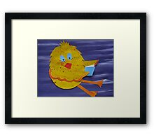Chook with a Book - Animal Rhymes - created from recycled math books Framed Print