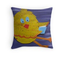 Chook with a Book - Animal Rhymes - created from recycled math books Throw Pillow
