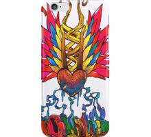 Multicolored bleeding hearts iPhone Case/Skin