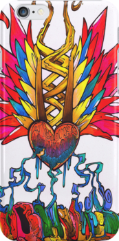 Multicolored bleeding hearts by QuanArtist