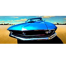 "Mustang ""What's UP?"" Photographic Print"