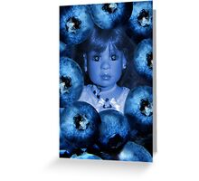 。◕‿◕。 4 THE LUV OF BLUEBERRIES JUST DON'T EAT 2 MUCH U MIGHT TURN BLUE LOL。◕‿◕。 Greeting Card