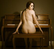 Young woman at the piano 1 by Terry Walker