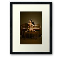 Young woman at the piano 2 Framed Print