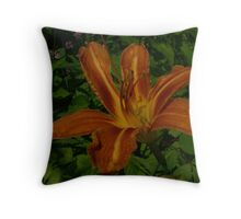 Lily In The Weeds Throw Pillow