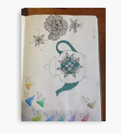 Teapot design  Canvas Print
