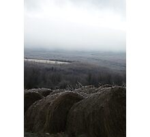 Icy Hay Bales in Winter West Virginia Photographic Print