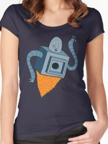 sad robot sails into the void Women's Fitted Scoop T-Shirt