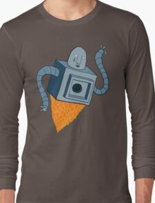 sad robot sails into the void Long Sleeve T-Shirt