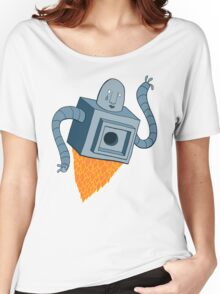 sad robot sails into the void Women's Relaxed Fit T-Shirt