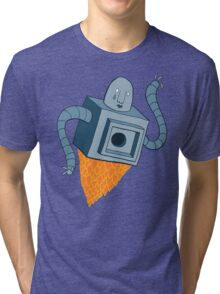 sad robot sails into the void Tri-blend T-Shirt