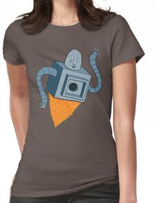 sad robot sails into the void Womens Fitted T-Shirt