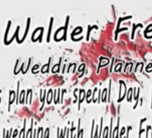 The Wedding Planner Card Sticker