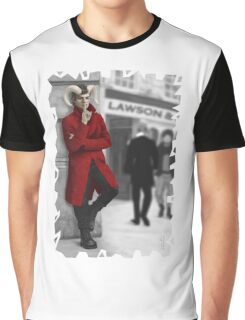 Satyr in Red Coat on the Street Graphic T-Shirt