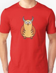 Funny Cartoon Horned Owl T-Shirt