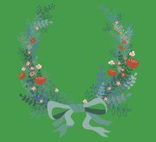 Wreath One Piece - Short Sleeve