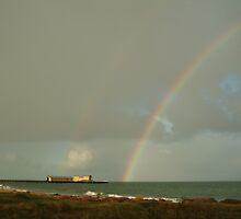 Joe Mortelliti Gallery - Passing storm, Queenscliff pier, Bellarine Peninsula, Victoria, Australia. by thisisaustralia