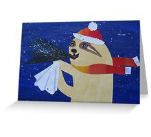 Sloth with a cough Greeting Card