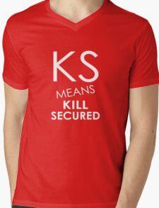 KS Means Kill Secured Mens V-Neck T-Shirt