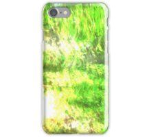 Light Green blur iPhone Case/Skin