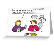 Stopping smoking. Greeting Card