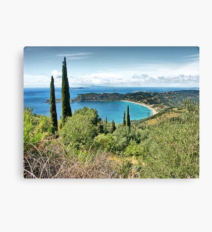 Landscape Corfu, Greece, HDR Canvas Print