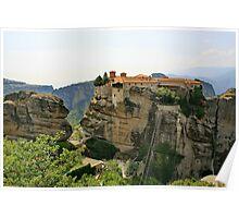 Meteora, HDR, Greece Poster