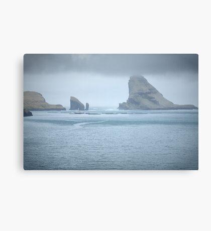 Faroe Island Landscape, HDR Canvas Print