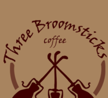 Three Broomsticks coffee Sticker