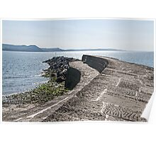Along The Cobb Wall ~ Lyme Regis Poster