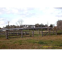 Dunolly Ford Bridge and Cattle Yards, Singleton, Australia Photographic Print