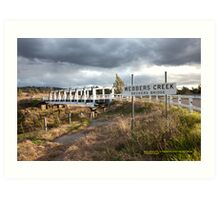 Beckers Bridge, Hunter Valley NSW Australia Art Print