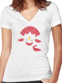 Weavile (Simple) Women's Fitted V-Neck T-Shirt