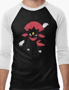Weavile (Simple) Men's Baseball ¾ T-Shirt