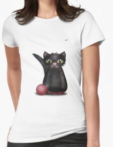 Kitty and the Fly Womens Fitted T-Shirt