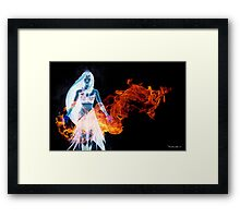 Hawaiian Goddess Black Edition Framed Print