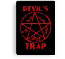 Devil's trap Canvas Print